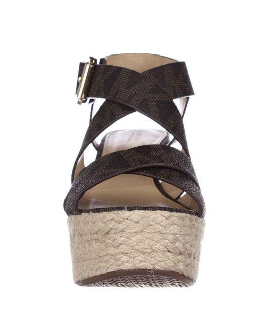 michael kors michael celia mid wedge espadrille sandals in