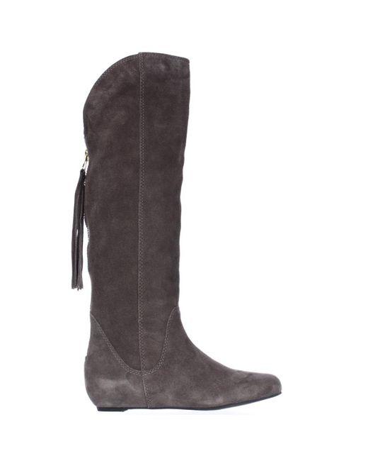 steve madden steven by laurren wedge tassel boots