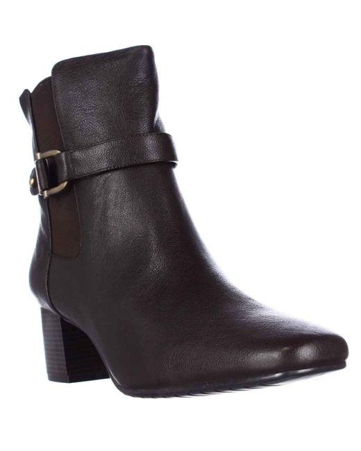 Bandolino | Brown Lorillar Side Buckle Dress Booties | Lyst