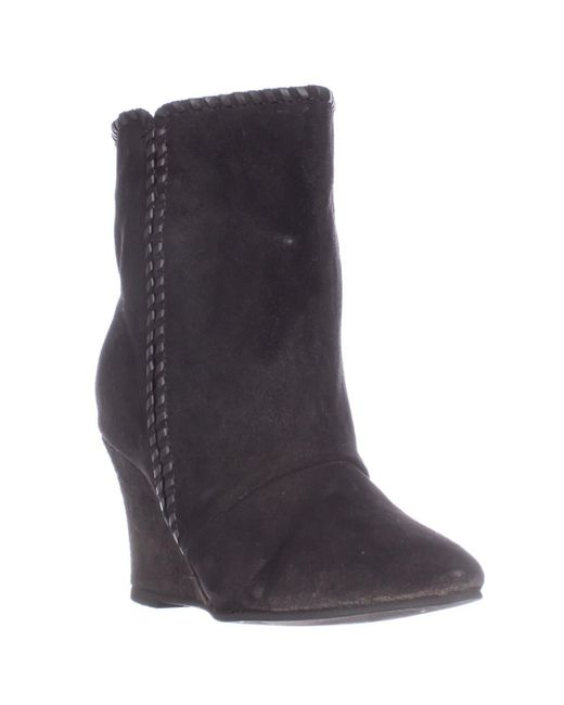 Charles by Charles David | Black Naya Pull On Wedge Mid Calf Boots | Lyst