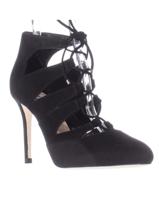 L.K.Bennett | Black Honor Caged Lace Up Heels | Lyst