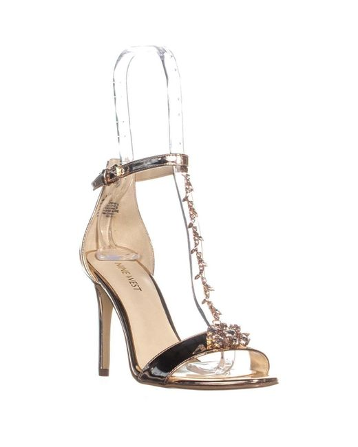 Nine West Pink Mimosina Ankle Strap Sandals