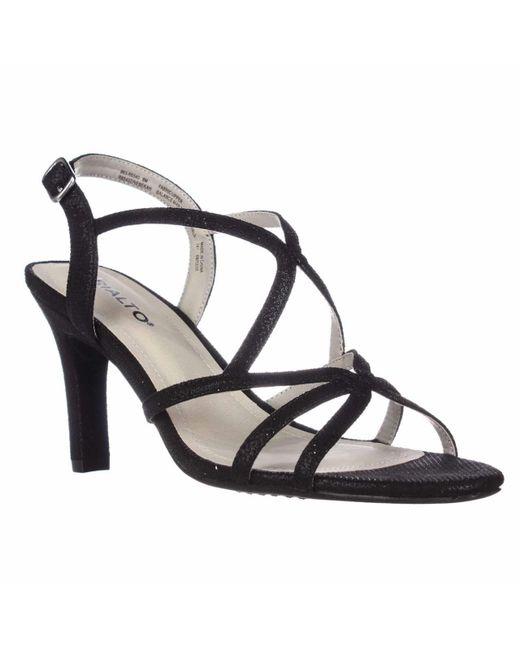 Rialto   Black Rebekah Evening Sandals   Lyst