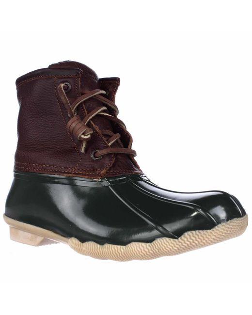 Sperry Top-Sider | Brown Saltwater Short Rain Boots | Lyst
