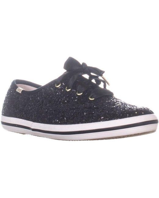 3856fff764 Keds - Black X Kate Spade New York Ch Ks Glitter Lace Up Sneakers - Lyst ...