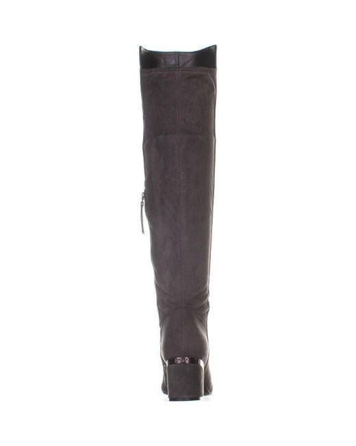 f77b692c253 ... DKNY - Gray Cora Low-heel Knee High Boots - Lyst ...