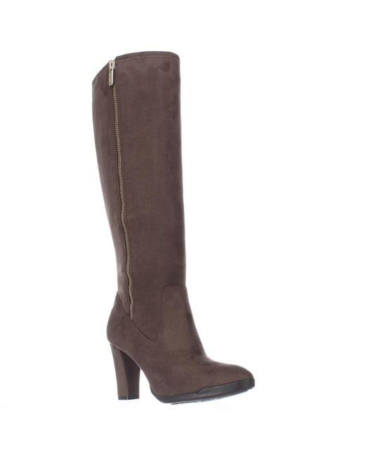 Anne Klein - Brown Ak Sport Elek Tall Stretch Boots - Lyst