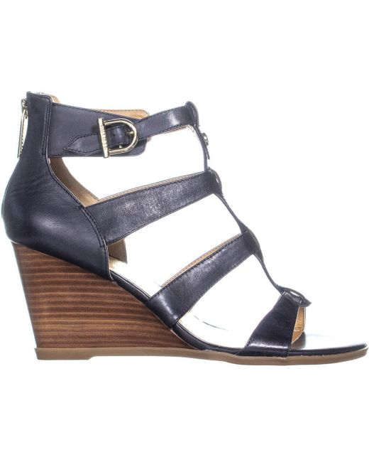 99f32f7a0315bd ... Tommy Hilfiger - Blue Osiana Wedge Sandals - Lyst ...