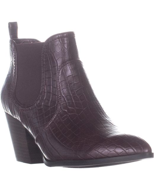 Bella Vita Purple Emerson Ii Pointed Toe Pull On Boots
