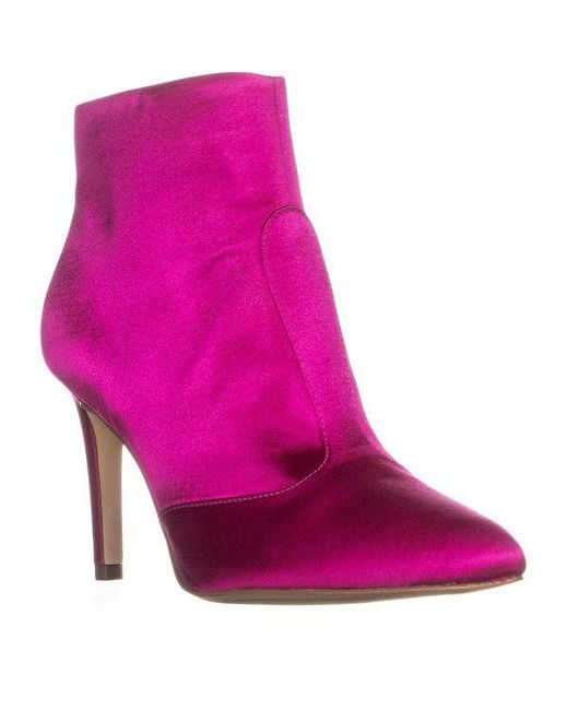 f3441b1c06f5f Sam Edelman - Pink Olette High Pointed Toe High Ankle Boots - Lyst ...
