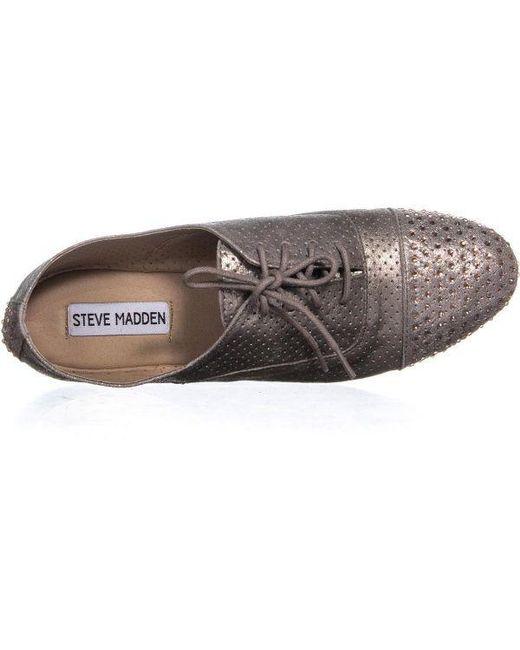97140385b21f55 Lyst - Steve Madden Tudor Oxfords in Metallic - Save 30.508474576271183%