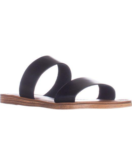 Bella Vita | Black Imo-italy Flat Slide Sandals | Lyst