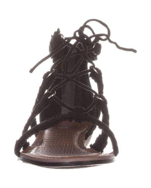 0c30ca3ae254 ... Carlos By Carlos Santana - Black Kenzie Flat Lace-up Sandals - Lyst ...