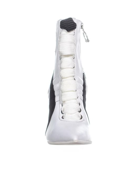 Lyst - PUMA Fenty High Heel Sneaker Ankle Boots in White - Save 14% 14f49c282