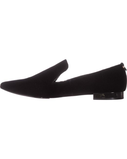 Calvin Klein Elin Pointed Toe Loafer Flats In Black Lyst