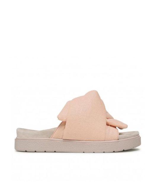 Inuikii Pink Knot Lino Sandals - Rose
