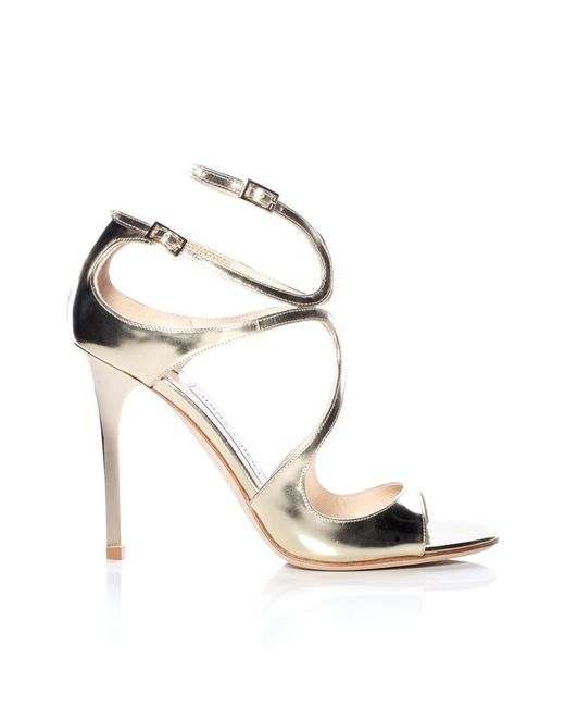 Jimmy Choo Multicolor Lang Mirrored Leather Sandal