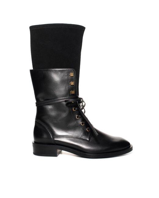 Stuart Weitzman - Black Violet Laceup Boot - Lyst