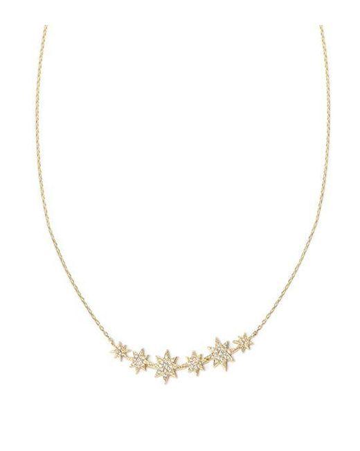 Anzie Metallic Aztec North Star Bar Necklace