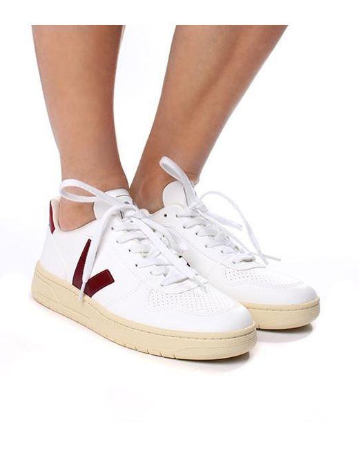 Rubber V-10 Vegan Sneaker White Marsala