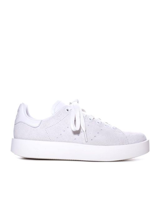 the best attitude d19aa 91a05 Women's White Stan Smith Bold