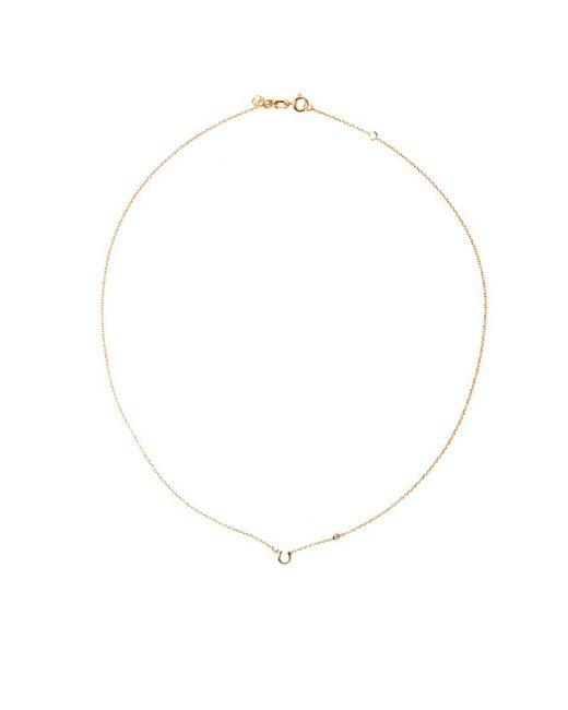 Shy By Sydney Evan - Metallic Horseshoe Necklace - Lyst