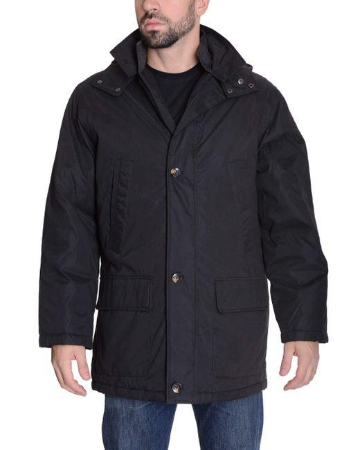 Weatherproof Black Warm Parka Winter Coat With Removable Hood for men