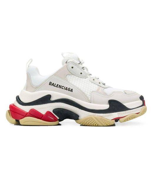 Balenciaga White Triple S Low-top Sneakers