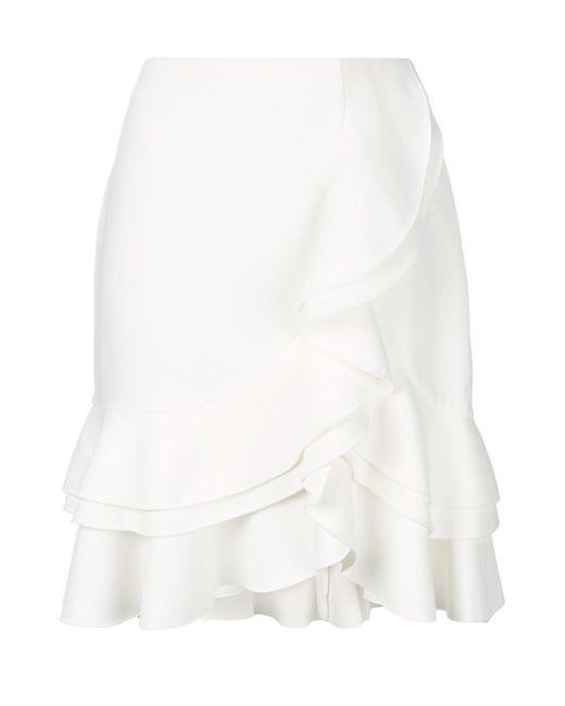 Proenza Schouler - White Frill Trim Wrap Front Skirt - Lyst