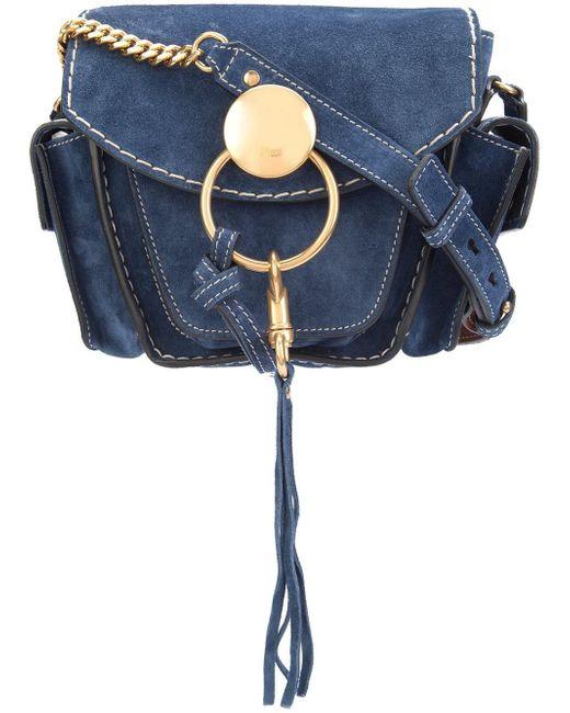 Chloé   Blue Jodie Suede Shoulder Bag   Lyst