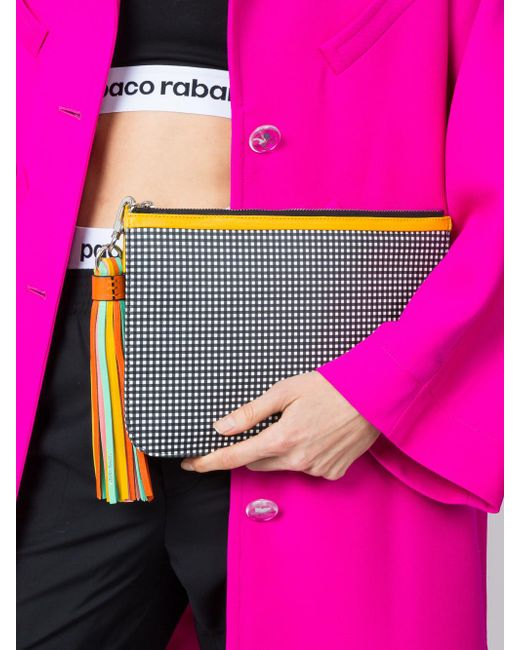 9c208fd082 ... Pierre Hardy - Multicolor Checkered Print Clutch - Lyst ...