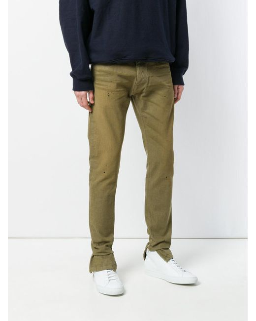 Buy Cheap Sale whisker detail trousers - Green Fear of God Buy Cheap Good Selling With Credit Card Sale Online Official Site Cheap Online Ib6igO4