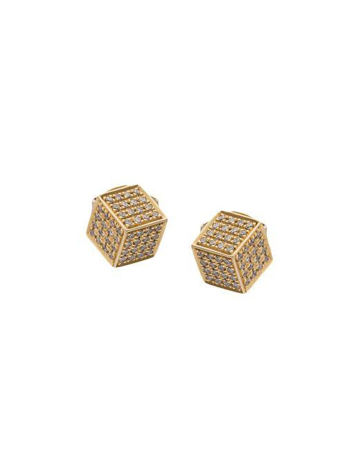 Noor Fares | Multicolor Cube Stud | Lyst