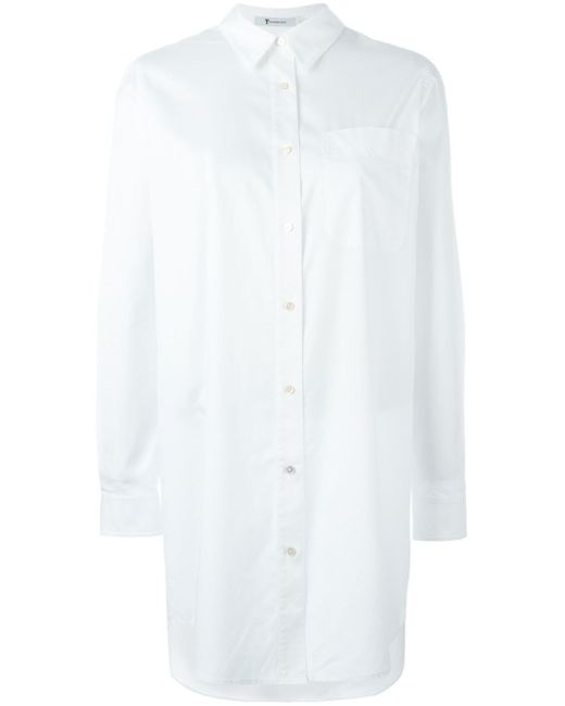 T By Alexander Wang | White Oversized Shirt | Lyst