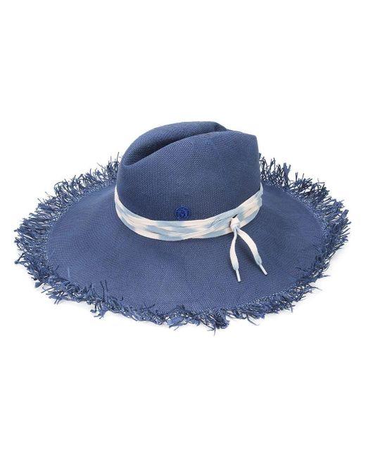Maison Michel - Blue Fringed Fedora - Lyst
