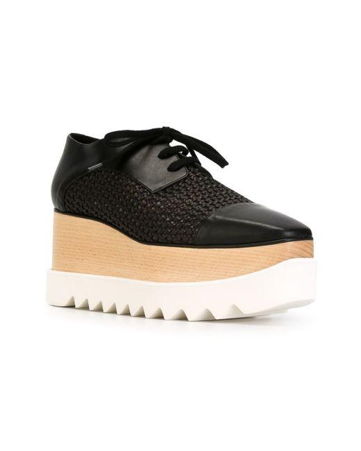 stella mccartney wicker elyse faux leather shoes in
