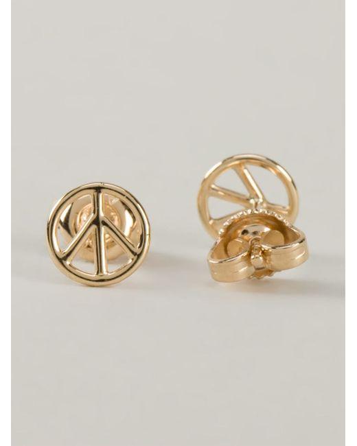 Aurelie Bidermann | Metallic Peace Earrings | Lyst