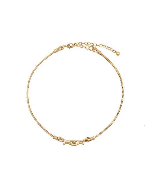 Eddie Borgo | Metallic Thalia Double Hook Necklace | Lyst