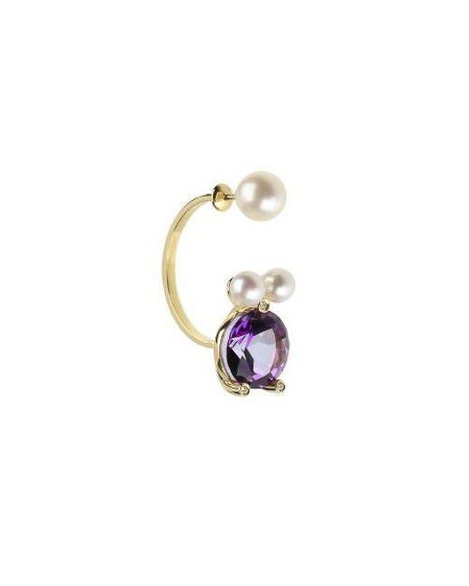 Delfina Delettrez - Multicolor Magic Puppy Piercing Earrings - Lyst