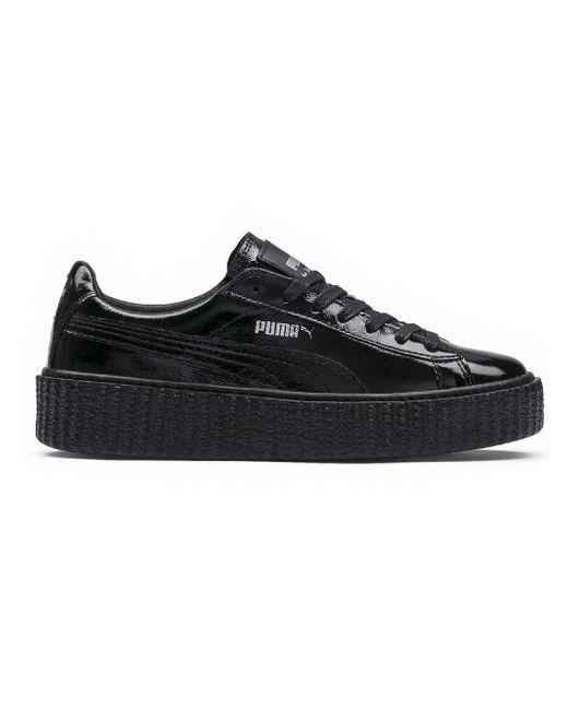 PUMA - Black Fenty X By Rihanna Cracked Leather Creeper - Lyst