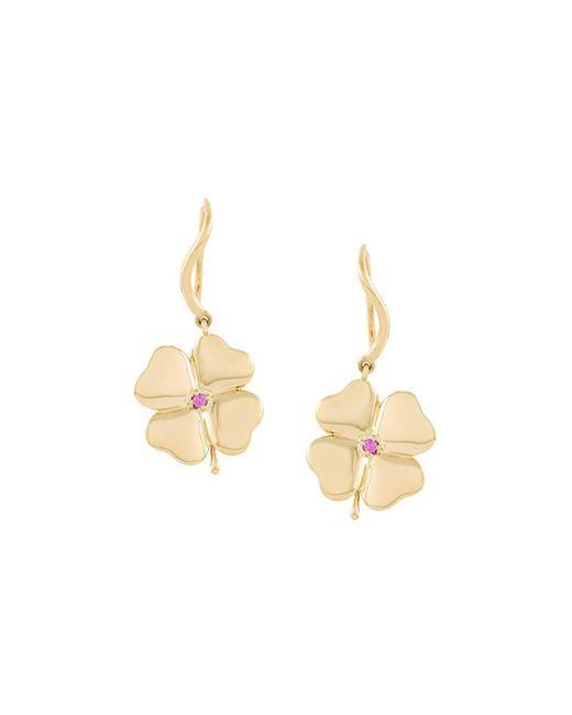 Aurelie Bidermann - Metallic 'clover' Sapphire Earrings - Lyst