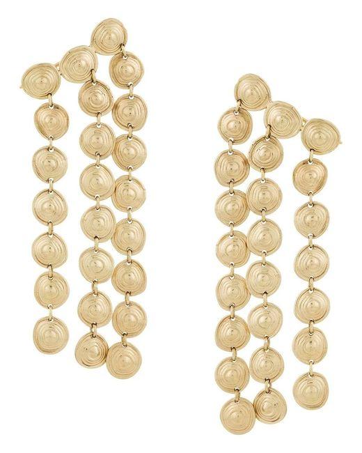Ellery Metallic Cascade Chandelier Earrings