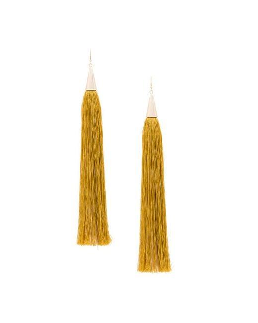 Eddie Borgo - Multicolor Long Silk Tassel Earrings - Lyst