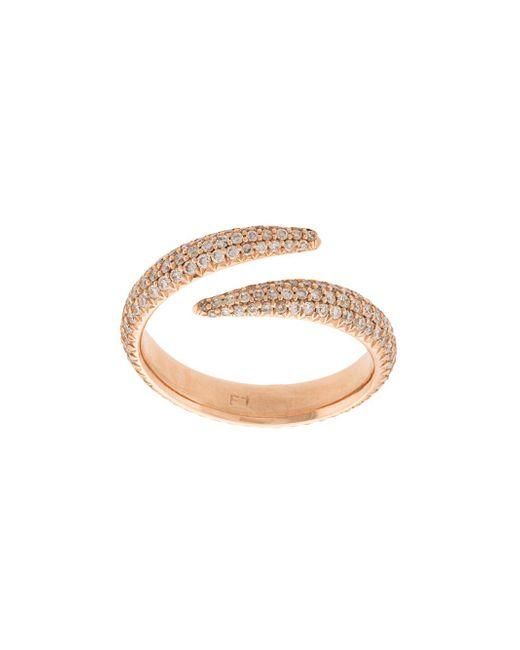 Eva Fehren - Metallic Diamond Embellished Midi Ring - Lyst