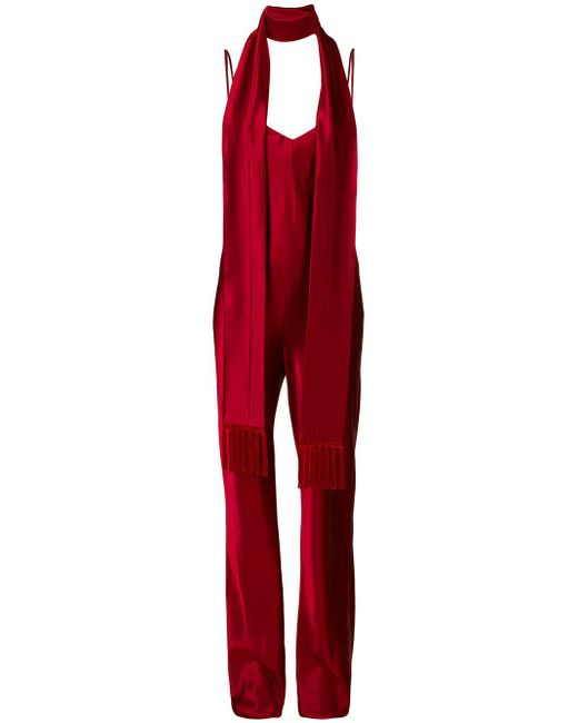 Galvan - Red Cuzco V-neck Jumpsuit - Lyst