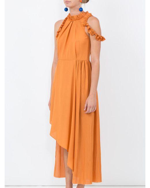 b00cf22496 Magda Butrym Assisi Orange Dress in Orange - Lyst