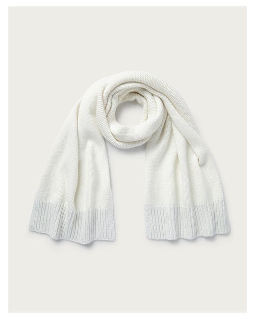 The White Company Natural Lurex Hem Scarf