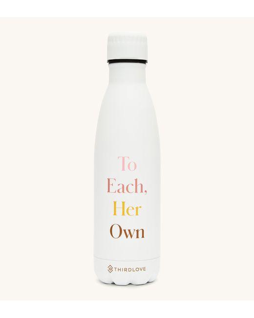 Thirdlove White To Each Her Own Water Bottle