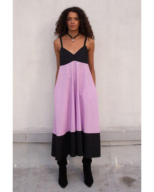 VEDA Purple Rio Cotton Dress Lilac