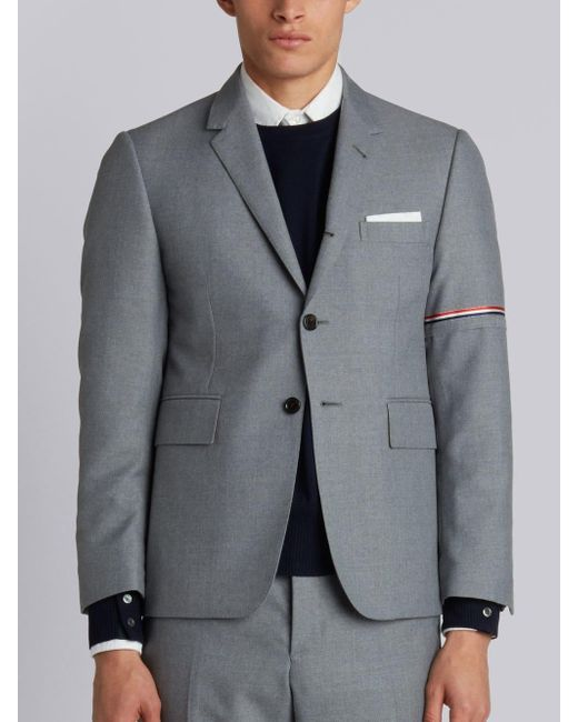 Thom Browne Gray Rwb Selvedge Armband Sport Coat for men